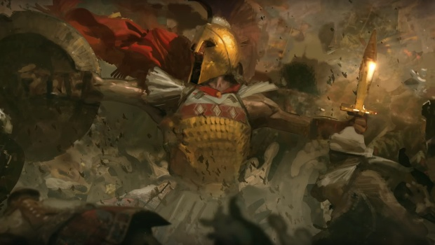 Age of Empires 4 screenshot of a Greek warrior