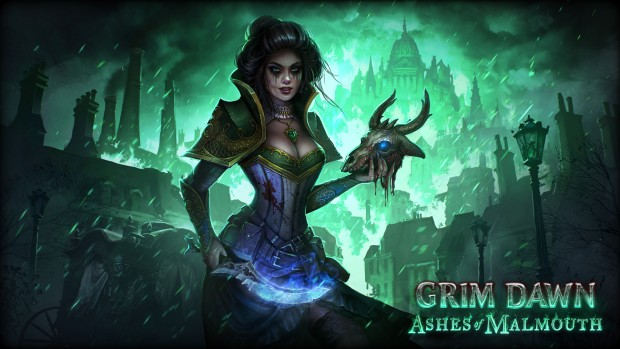 Grim Dawn: Ashes of Malmouth official artwork for the Necromancer