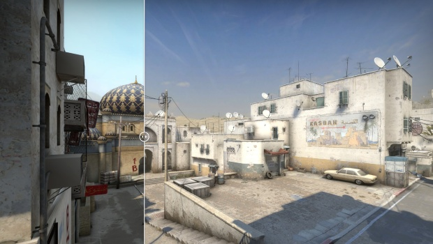 CS:GO screenshot of the new and improved road towards B on Dust2