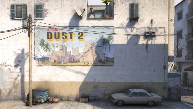 CS:GO screenshot of the new and improved Dust2 map