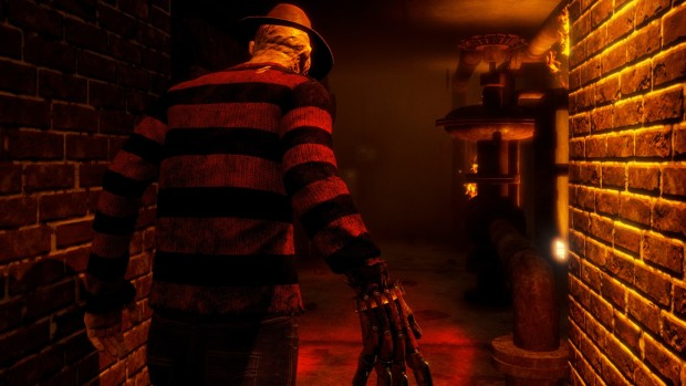 "Dead by Daylight screenshot of Freddy from the  ""A Nightmare on Elm Street"" themed DLC"
