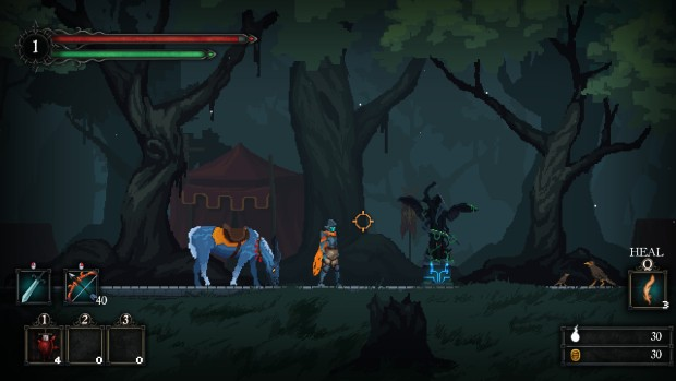 Screenshot of a shrine from Death's Gambit