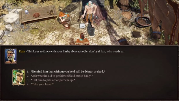 Divinity: Original Sin 2 screenshot of a character reacting to being healed