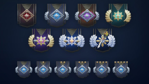 Dota 2 Dueling Fates update screenshot of the ranked medals