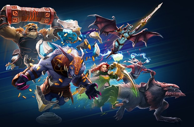 Dota 2 Dueling Fates artwork for the Dota Turbo game mode