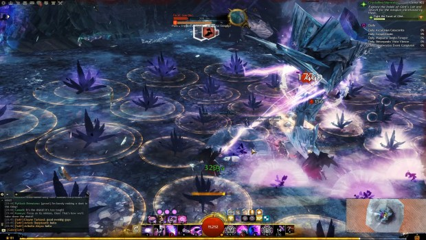 Guild Wars 2: Path of Fire screenshot of a story boss fight