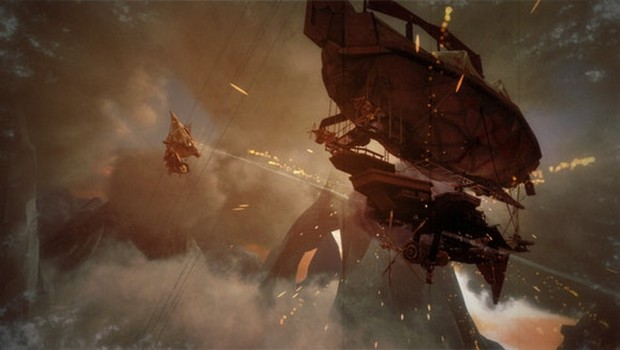 Guns of Icarus Online screenshot of a airship battle