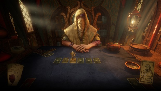 Hand of Fate 2 screenshot of the table and the dealer