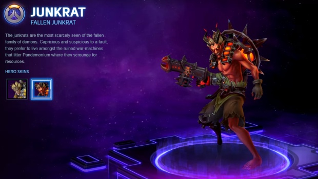 Heroes of the Storm screenshot of Junkrat's Fallen cosmetic