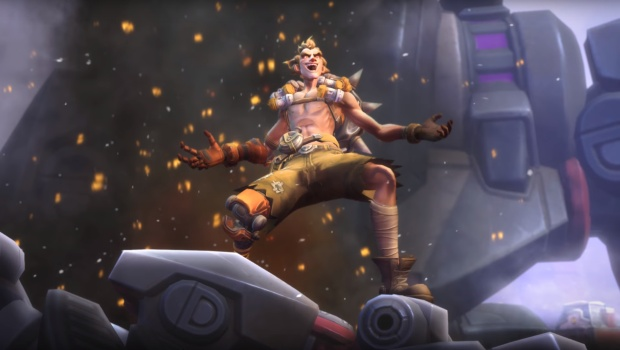 Heroes of the Storm screenshot of Junkrat from the trailer