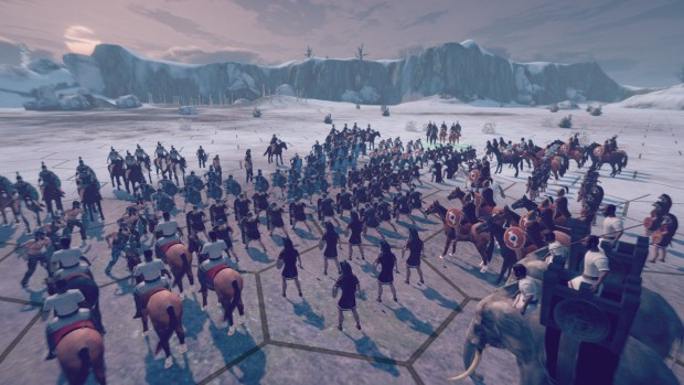 Numantia screenshot of a turn-based battle from up close