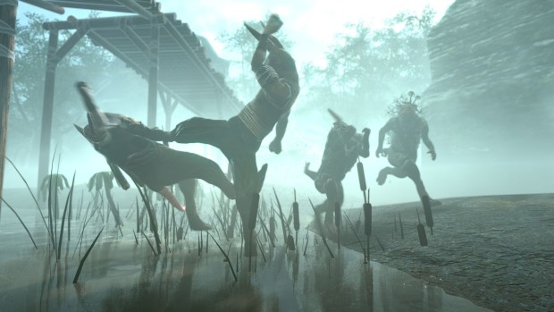 Overgrowth screenshot of a 3v1 battle in the mists