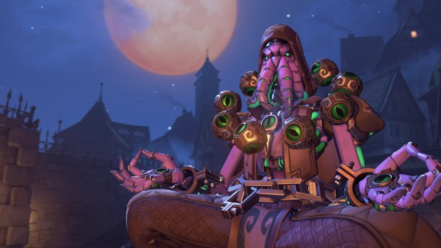 Overwatch screenshot of Zenyatta's cultist skin
