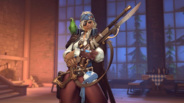 Overwatch Halloween Terror screenshot of pirate Ana