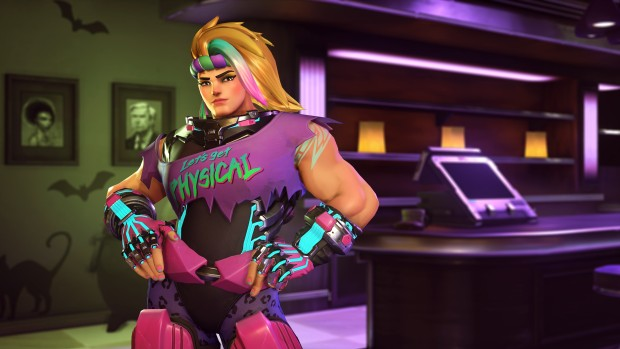 Overwatch Halloween Terror screenshot of Totally 80s Zarya