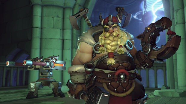 Overwatch Halloween Terror screenshot of viking Torbjorn