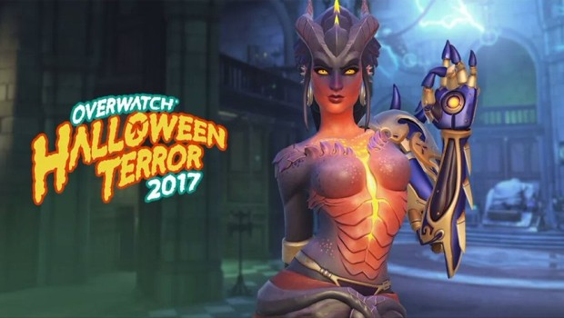 Symmetra's demon skin from the Overwatch Halloween Terror event