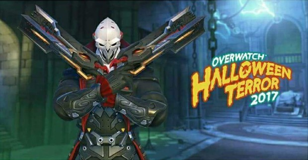 Overwatch Halloween Terror event screenshot of Reaper as a vampire