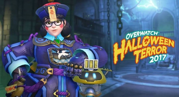 Overwatch Halloween Terror screenshot of Mei as a zombie