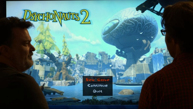 Psychonauts 2 screenshot of the very first start game screen