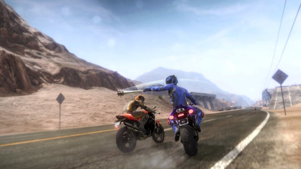 Road Redemption screenshot of a mace attack