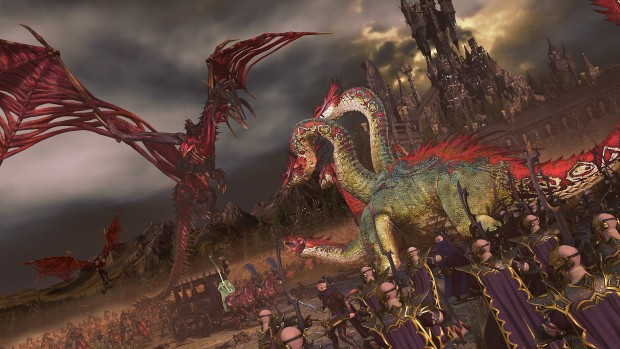 Total War: Warhammer 2 screenshot of the Undead fighting Dark Elves