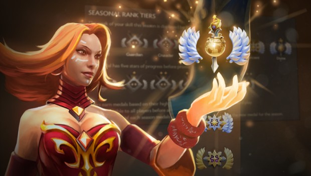 Lina from Dota 2 showcasing the new ranked ladder system