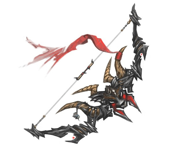 Guild wars 2 Design-a-Weapon Contest 2017 artwork for finalist bow