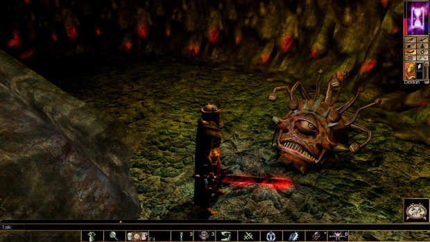 Neverwinter Nights: Enhanced Edition screenshot of a dead and unimpressed Beholder