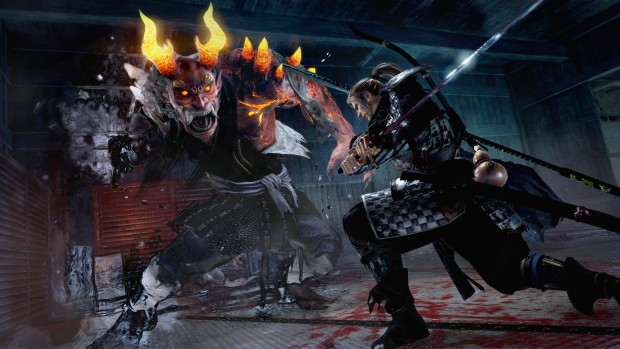 Nioh PC screenshot of a duel against a demon