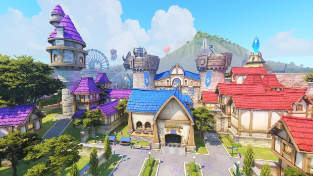Blizzard World screenshot of the Hearhstone tavern from outside