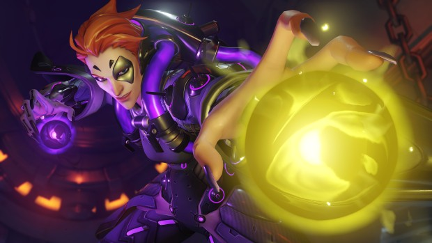 Overwatch screenshot of Moira's highlight intro