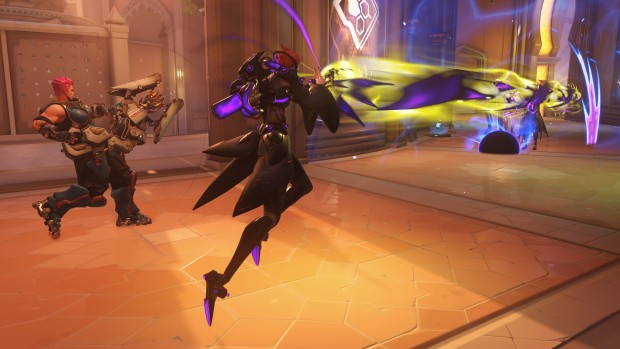 Overwatch screenshot of Moira using her ultimate