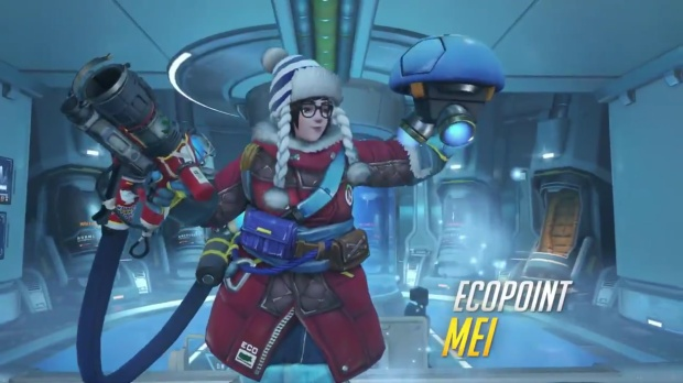 Overwatch screenshot of Eco Point Mei cosmetic