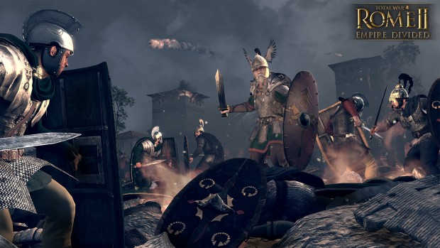 Total War: Rome 2: Empire Divided screenshot of a battlefield