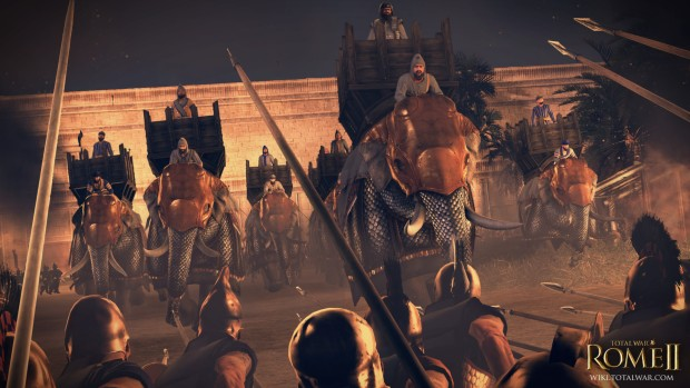 Total War: Rome 2 screenshot of war elephants on the march