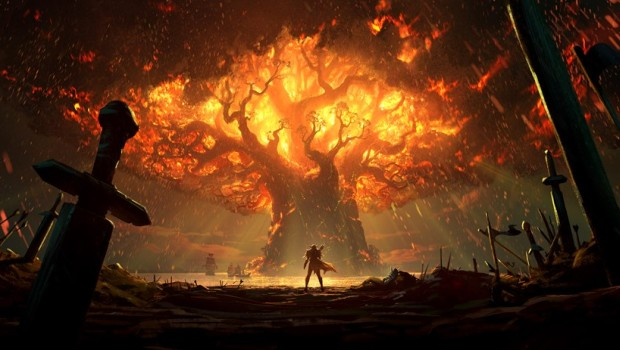 World of Warcraft: Battle for Azeroth Burning Teldrassil artwork