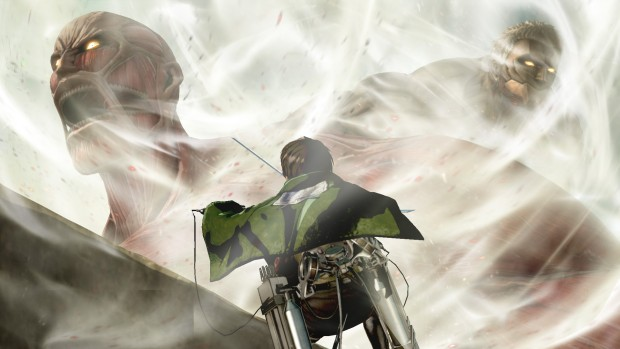 Attack on Titan 2 screenshot showing off two Titans
