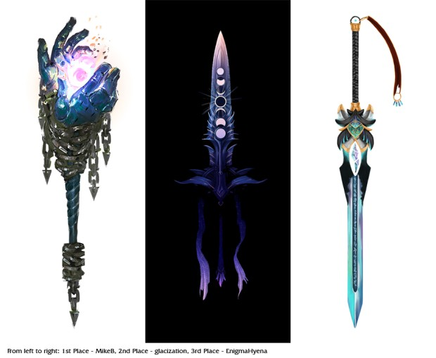 Guild Wars 2: Weapon Design Contest 2017 winners