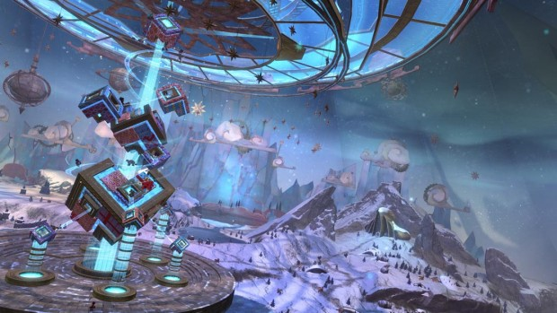 Guild Wars 2 Wintersday event screenshot of the toymaker factory