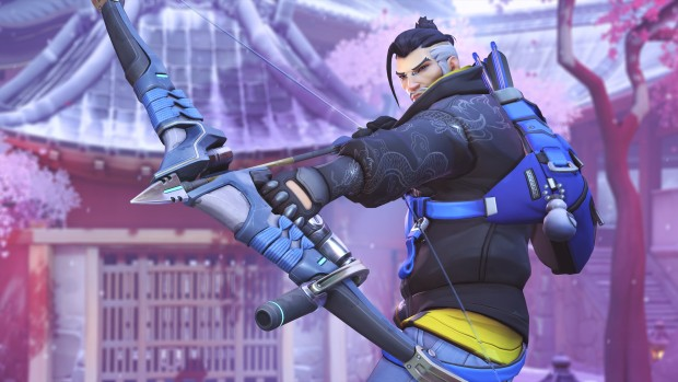 Overwatch closeup screenshot of old Casual Hanzo skin