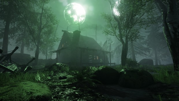 Warhammer: End Times - Vermintide screenshot of an eerie house from Death on the Reik