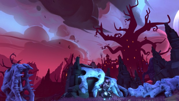 Battleborn's Montana and the Demon Bear DLC screenshot of the castle