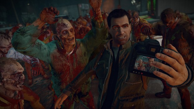 Dead Rising 4 screenshot of a selfie with zombies