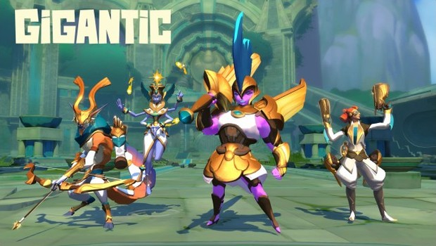 Gigantic's Eternal Dawn update golden skins screenshot