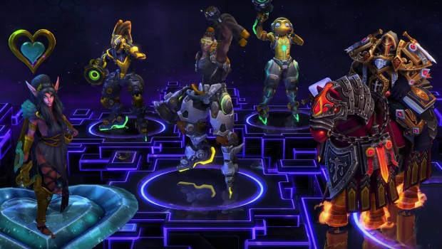 Heroes of the Storm Lucio and valentines day skins and cosmetics
