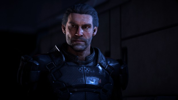 Mass Effect: Andromeda screenshot of the potential male pathfinder?