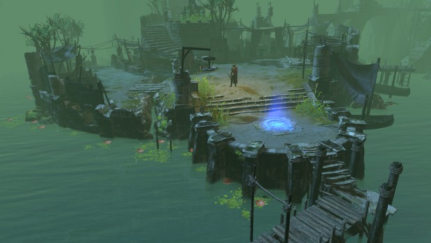 Path of Exile The Fall of Oriath screenshot of a ruined base from Act 3