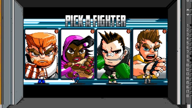 River City Ransom: Underground character selection screen