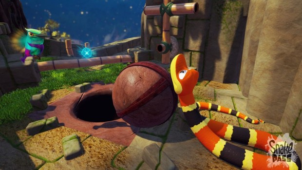 Snake Pass puzzle-solving screenshot